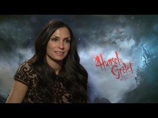 2013. Jeremy Renner and Gemma Arterton Hansel and Gretel interviews